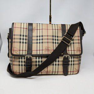 BURBERRY Haymarket Check Medium Messenger bag